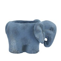 Solstice Sculptures Elephant Planter 20cm in Blue Iron Effect