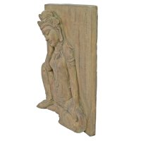 Solstice Sculptures Buddha Wall Plaque 64cm in Carved Wood Effect