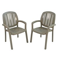 Nardi Classic Ponza Stacking Chairs (Set of 2) - Turtle Dove