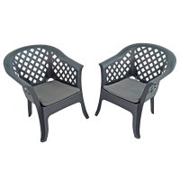 Trabella Savona Chairs (Set of 2) - Anthracite
