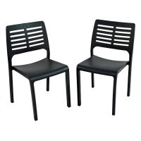 Trabella Mistral Chairs (Set of 2) - Anthracite
