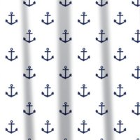 Sabichi Anchor Peva Shower Curtain