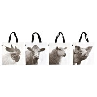Fallen Fruits Shopping Bag - Farm Animals Assorted (1 Only)
