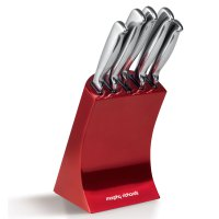 Morphy Richards 5 Piece Knife Block Red
