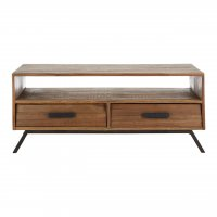Brooklyn 2 Drawer Fir Wood Coffee Table