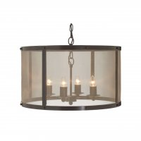 Hampstead 4 Light Antique Black and Gold Pendant Light