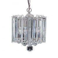 Searchlight Sigma 3 Light Chrome Pendant with Clear Acrylic Detail