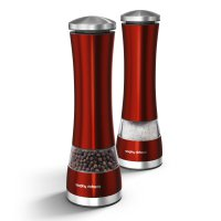 Morphy Richards Electronic Salt and Pepper Mills Red