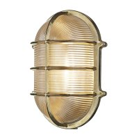 David Hunt Admiral Large Oval Wall Bulkhead Brass IP64