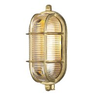 David Hunt Admiral Small Oval Wall Bulkhead Brass IP64