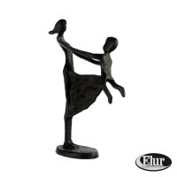 Elur Mother & Child Swinging Iron Figurine 23cm Mocha