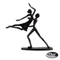 Elur Dancing Couple in Lift Iron Figurine 17cm Mocha