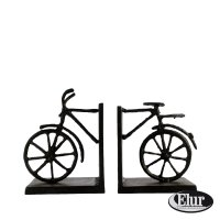Elur Bicycle Iron Book Ends 13cm Mocha