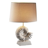 David Hunt Ammonite Table Lamp Stone Effect Complete with Shade