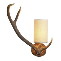 David Hunt Antler Wall Light left hand Complete with Shade