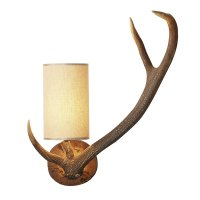 David Hunt Antler Wall Light right hand Complete with Shade