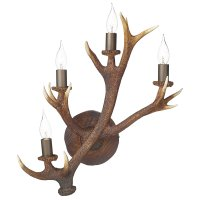 David Hunt Antler 4 Light Wall Candelabra