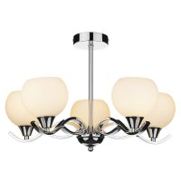 Dar Aruba 5 Light Semi Flush Polished Chrome