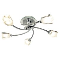 Dar Austin 5 Light Semi Flush Polished Chrome