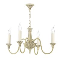David Hunt Bailey 4 Light Chandelier Cream