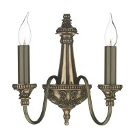 David Hunt Bailey 2 Light Wall Light in Bronze