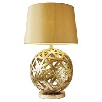 Dar Balthazar Table Lamp Complete with Shade Bronze