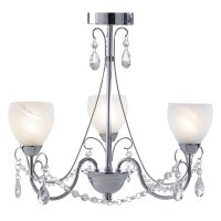 Dar Crawford 3 Light Pendant Polished Chrome IP44
