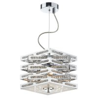 Dar Cube 3 Light Pendant in Polished Chrome