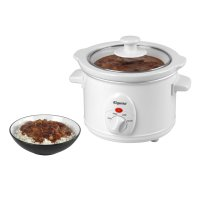 Elgento White Slow Cooker 1.5ltr