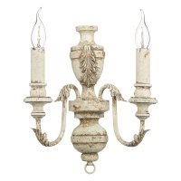 David Hunt Emile 2 Light Wall Bracket Rustic French