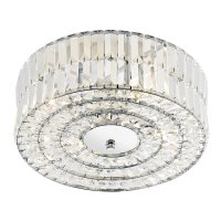 Dar Errol Crystal Semi Flush fitting Polished Chrome