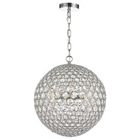 Dar Fiesta 5 Light 35cm Pendant Polished Chrome