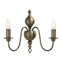 David Hunt Flemish Double Wall Bracket in Bronze