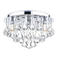 Dar Fringe 4 Light Flush Polished Chrome IP44