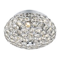 Dar Frost 3 Light Flush Ceiling Light Polished Chrome