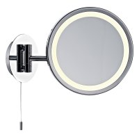 Dar Gibson Magnifying Round Wall Mirror - excl Lamp