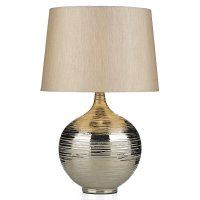 Dar Gustav Table Lamp Large Silver with Silver Shade