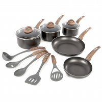 Tower 5 Piece Non-Stick Pan Set Black