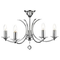 Dar Medusa 5 Light Dual Mount Pendant K9 Crystal Polished Chrome