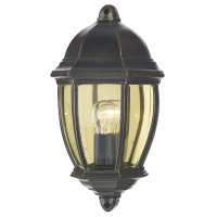 Dar Newport Outdoor Flush Black Gold Ip43