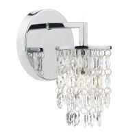 Dar Niagra Single Wall Bracket Polished Chrome Clear