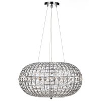 Dar Plaza 3 Light Pendant Polished Chrome