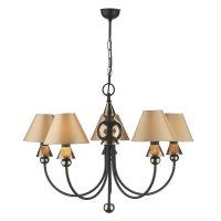 David Hunt Spearhead 5 Light Pendant Bronze Black