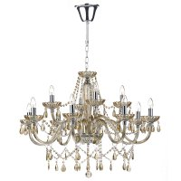 Dar Raphael 12 Light Chandelier Champagne Crystal