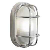 Dar Salcombe Small Oval Steel Wall Light IP44