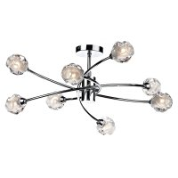 Dar Seattle 8 Light Semi Flush Polished Chrome