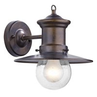Dar Sedgewick 1 Light Lantern Bronze Down Facing IP44