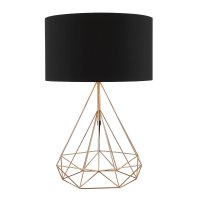 Dar Sword Table Lamp Copper with Shade
