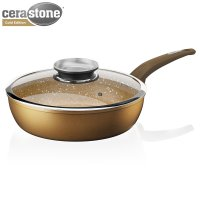 Tower Forged Sauté Pan Gold 28cm