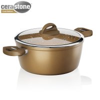 Tower  Forged Casserole Pan Gold 24cm